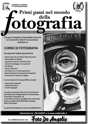 Primi Passi nel Mondo della Fotografia – Edizione 2009